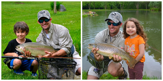 oyster bamboo fly rod's children and big trout