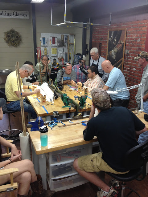 oyster bamboo fly rod making class in blue ridge ga